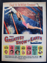 The Greatest Show on Earth (1952) - James Stewart | Vintage Trade Ad